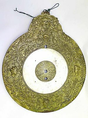 Rare 17th Century German Telleruhr Repoussé Gilt Brass Zappler Wall Spindeluhr