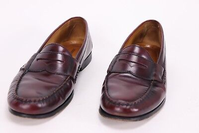 876f78261f0 JOHNSTON AND MURPHY mens size 11.5 M pannell penny loafer burgundy ...