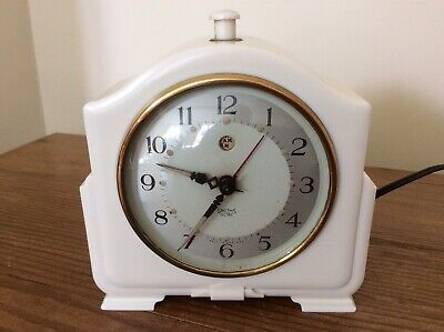 Cream Balelite Smiths Electric Mantle Clock ~ Working