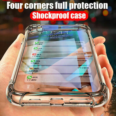 Shock Proof Crystal Clear Soft Slim Silicone Gel Bumper Cover Case For iPhone