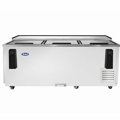 Atosa 80in Deep Well Horizontal Bottle Cooler Stainless Casters Free Lift Gate