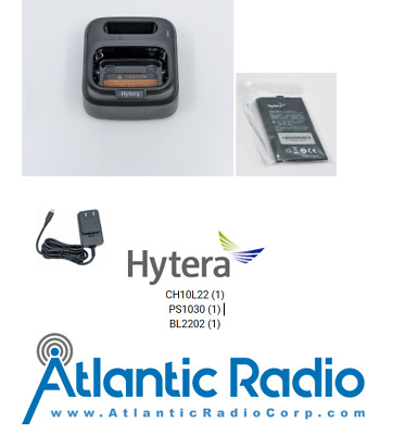 Hytera BD302i Drop in Charger CH10L22 with Spare Battery BL2202 includes PS1030