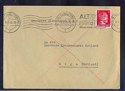 Germany(Ostland), 1943, Firma cover from Berlin-Charlottenburg with machine canc