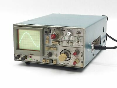 SONY TEKTRONIX 335 COMPACT OSCILLOSCOPE DUAL-TRACE 2 CHANNEL 35MHz 35 MHz 12VDC