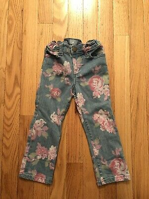 Baby Gap Girls Floral Denim Jeans Size 2 Years