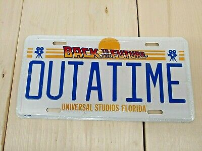 VINTAGE SEALED Back to the Future OUTATIME License Plate from Universal Studios!
