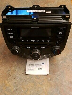 2003 2007 Honda Accord Stereo Radio Cd Changer Player Climate Oem Code Included