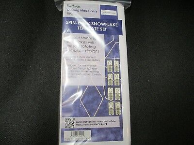 Sew Steady Westalee Spin-E-Fex Snowflake Template - 8pc Set quilting