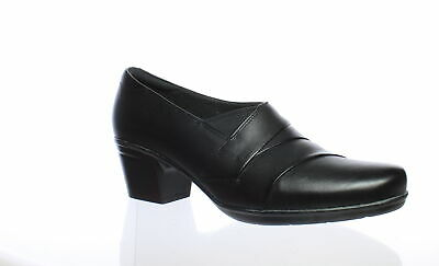 04e17f4a1f CLARKS WOMENS EMSLIE Warren Black Leather Heels Size 11 (209020 ...