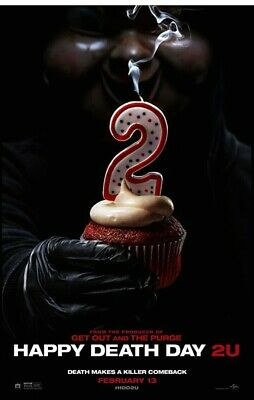 """HAPPY DEATH DAY 2U 2019 Advance Teaser DS 2 Sided 27x40"""" US Movie Poster J Rothe"""
