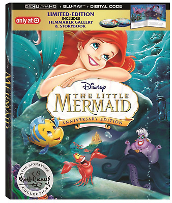 The Little Mermaid Target Digibook 4K Blu-ray 30th Anniversary Edition Storybook