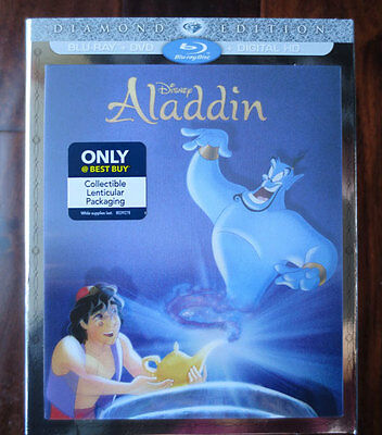 Aladdin LENTICULAR slipcover Best Buy exclusive blu-ray dvd disc Diamond Edition