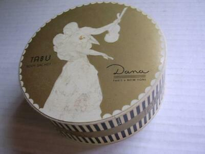 Vintage Tabu Body Sachet by Dana New York Powder Box