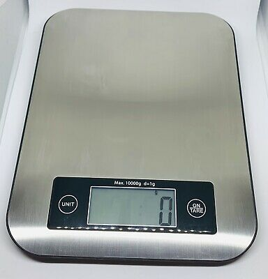 Digital Kitchen Scale Multifunction Stainless Steel Battery Included Silver