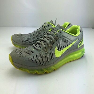 e18b4d38fa Nike Air Max 2013 Running Shoes Sneakers 555363 070 Silver Neon Womens Size  7.5