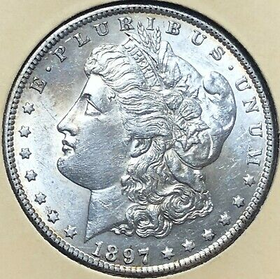 1897-S GEMMY Morgan LIBERTY Silver Dollar $1 UNCIRCULATED free s/h No Reserve!