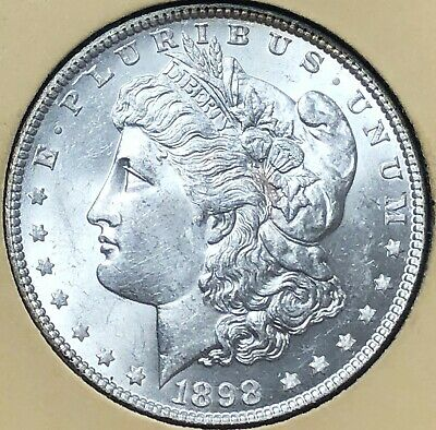 1898 GEMMY Morgan LIBERTY Silver Dollar $1 UNCIRCULATED free s/h No Reserve!