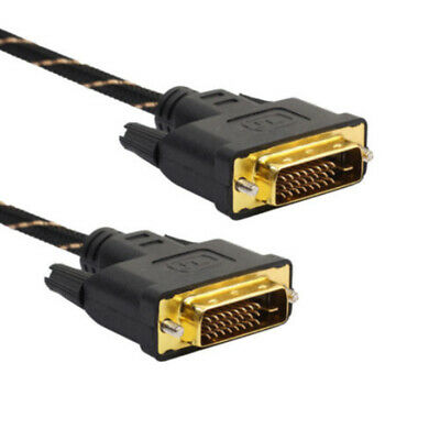 DVI-D to DVI-D Male to Male 24+1 Pin Dual Link DVI TV Cable 10 Ft for TFT