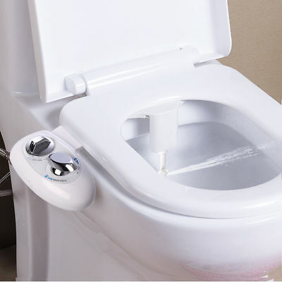 Adjustable Self Cleaning Nozzle NonElectric Flash Water Spray Bidet Toilet Seat