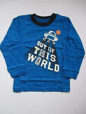 Gymboree Star Brights Blue Out of This World UFO Tee Shirt Top Boys 3T NEW NWT