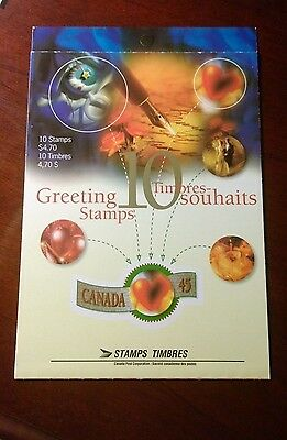 Canada Bk 190, 1601b, Greetings Booklet with die cutting omitted