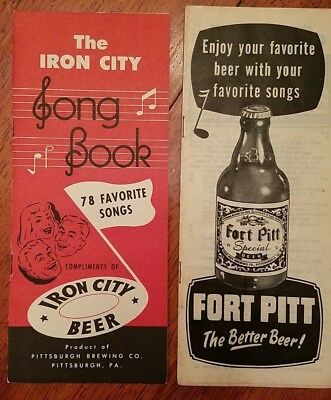 1950/'s Fort Pitt and Iron City Song Books