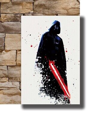 Hot Watercolor Star Wars Darth Vader Movie New Art Poster 40 12x18 24x36 T-5168