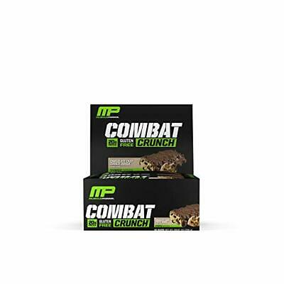 NEW MusclePharm Combat Crunch Protein Bar Chocolate Chip Cookie Dough 12 Bars