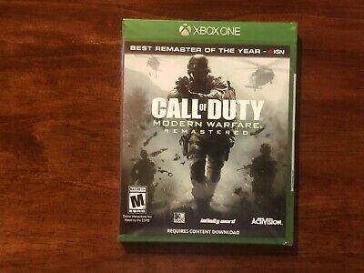 Call of Duty 4: Modern Warfare Remastered (Microsoft Xbox One, Xbox 1, 2017) NEW