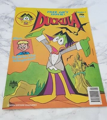 Rare Limitée Editions Magazines Gb Compter Duckula Bd Question N°1 First 1990
