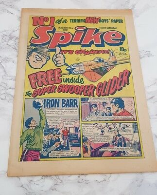 Spike Comic Nº 1 1er Question First One 1 Janvier 22nd 1983 Gb Paper Livre Vgc