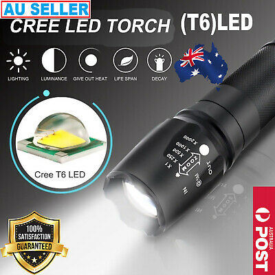 LED FLASHLIGHT RECHARGEABLE TACTICAL TORCH 20000LM X800 SHADOWHAWK L2 2x BATTERY