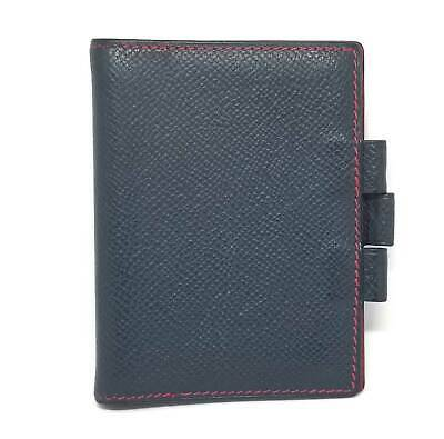 Authentic HERMES note book cover PM mini agenda cover navy memo pad cover