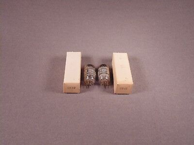 2 7247 FISHER by GE HiFi Stereo Guitar Amplifier Vacuum Tubes Codes 60-13 NOS
