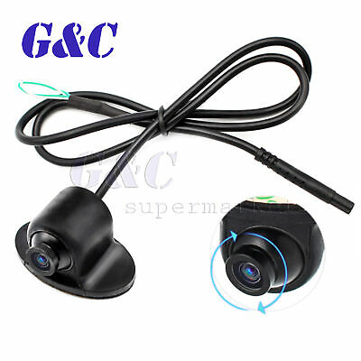 360°HD CCD Waterproof Mini Front Camera Car Rear View Reverse Night Vision