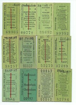 12 Different NSW Single Tickets