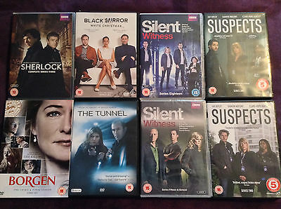 Sherlock 3, Black Mirror, Borgen 3, The Tunnel, Suspects 1 2