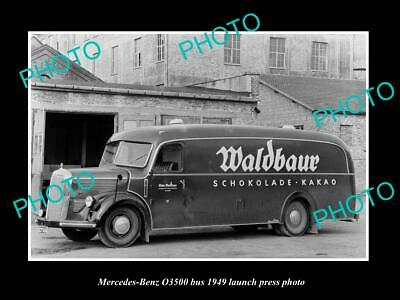 Old Postcard Size Photo Of 1949 Mercedes Benz O3500 Bus Lauch Press Photo 1