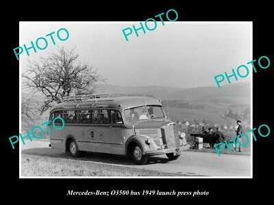 Old Postcard Size Photo Of 1949 Mercedes Benz O3500 Bus Lauch Press Photo 2