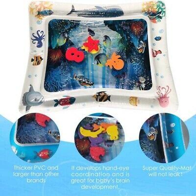 Inflatable Fun Water Play Mat for Kids Baby Children Infants Best Tummy Time USA