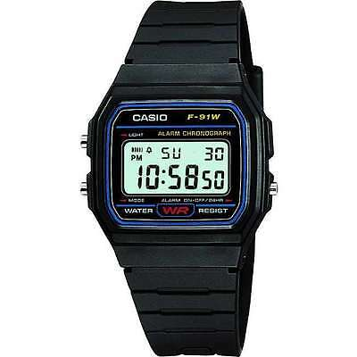 Orologio Da Polso Uomo Casio Collection F-91w-1 Digital Luce Sveglia Vintage lac