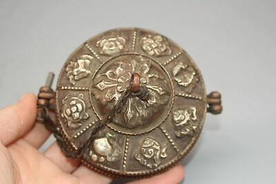 China Tibetan Buddhism Pure copper Emboss Touch the bell cymbals percussion