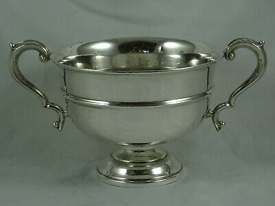SOLID silver ROSE BOWL, 1939, 443gm