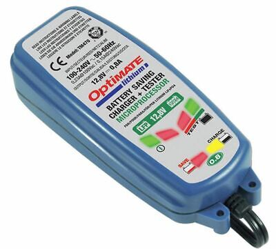 Optimate Lithium 12V 0.8A LiFePO4 Motorcycle Motorbike Battery Charger