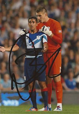 TEAM GB & SWANSEA:NEIL TAYLOR SIGNED 6x4 ACTION PHOTO+COA *LONDON 2012*