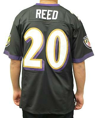finest selection 6b91b bf48d ED REED BALTIMORE Ravens Black Mitchell & Ness Throwback Jersey L