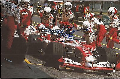 Formula One * Olivier Panis Signed 8X5 Action Book Picture+Coa