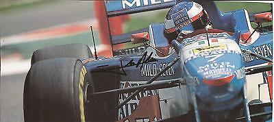 FORMULA ONE * JEAN ALESI SIGNED 8x3.5 ACTION MAGAZINE PICTURE+COA