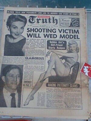 Melbourne . Truth 1955  ,Football, Racing, Gossip 28 pages