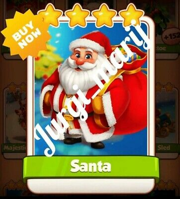 Coin master card   Santa   fast delivery